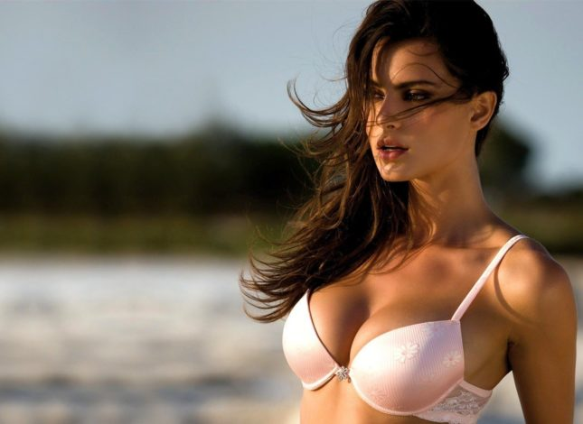 women-push-up-bras-beaches-brunettes-looking-at-viewer-models-white-bras